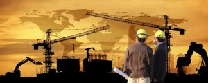 site manager and project manager on site,two civil engineer working in building construction site against beautiful dusky sky with crane construction – © sittinan - Fotolia.com